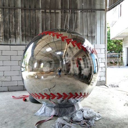 Large metal baseball