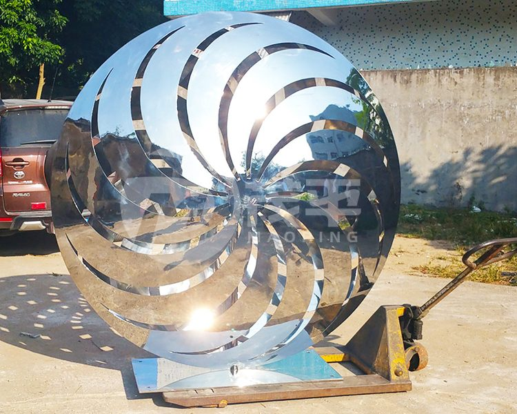 Pinwheel garden sculpture4