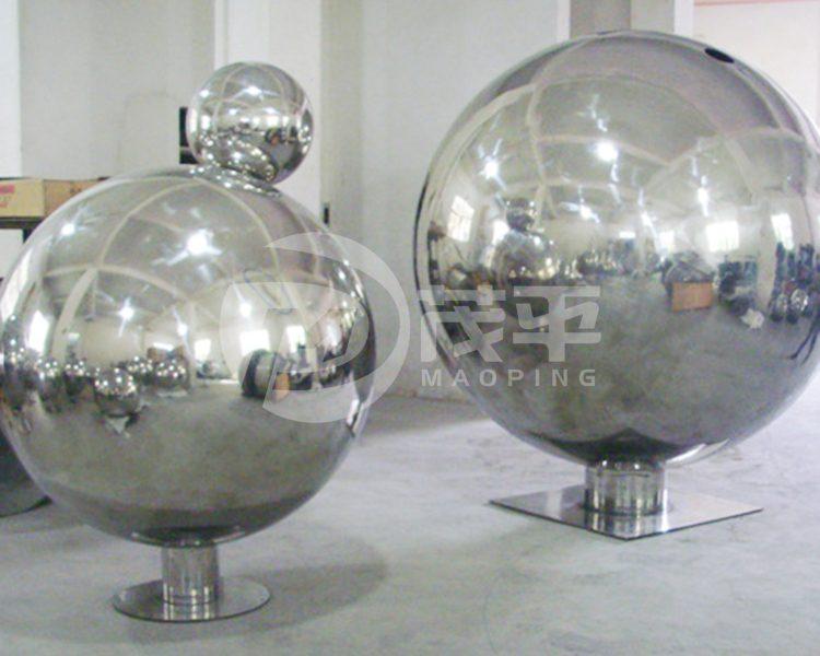 Stainless steel sphere sculpture2